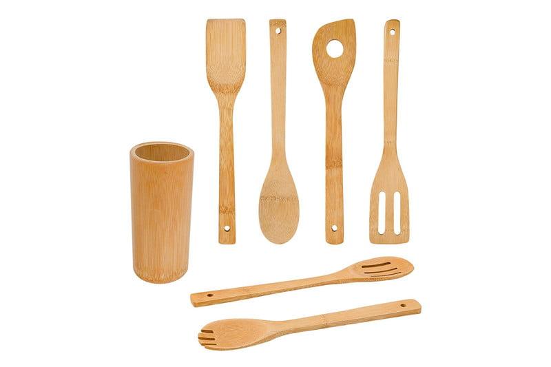 Bamboo kitchen utensils from Zri Bamboo.